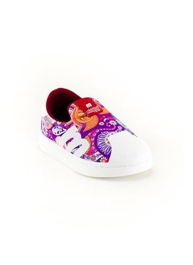 minipicco Unısex Çiçekli Ortopedik Destekli Çocuk Spor Ayakkabı Renkli